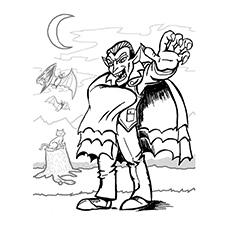 Elegant Vampire coloring #1, Download drawings