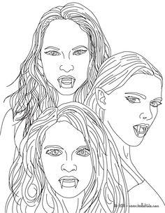 Elegant Vampire coloring #16, Download drawings