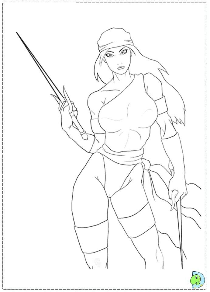 Elektra coloring #16, Download drawings