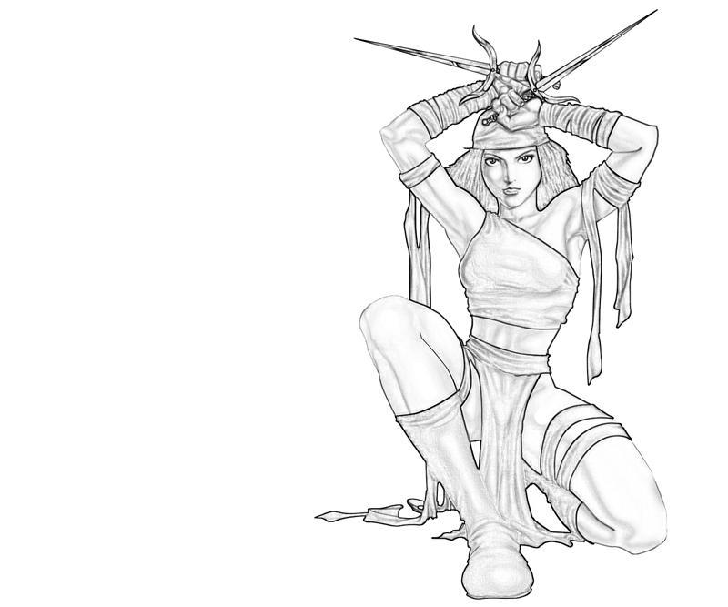 Elektra coloring #18, Download drawings