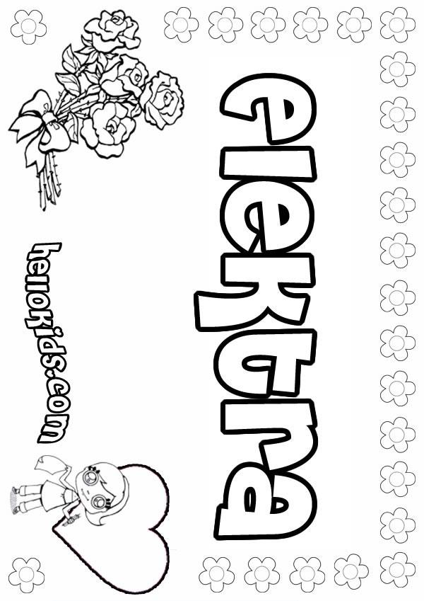 Elektra coloring #9, Download drawings
