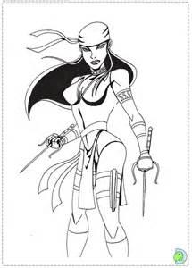 Elektra coloring #19, Download drawings