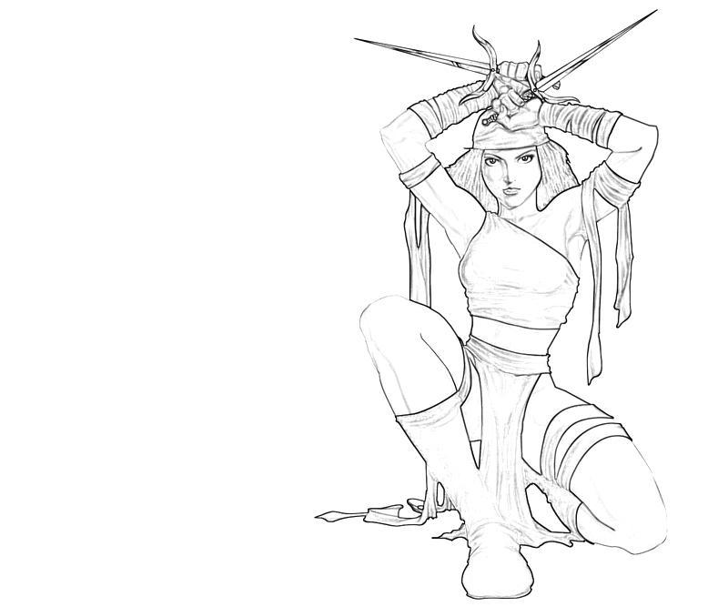 Elektra coloring #13, Download drawings