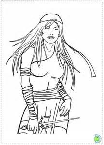 Elektra coloring #15, Download drawings
