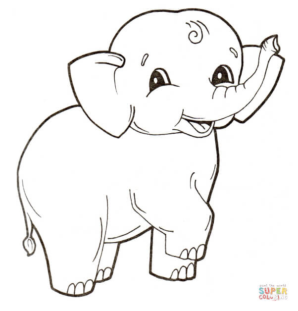 Elephant coloring #13, Download drawings