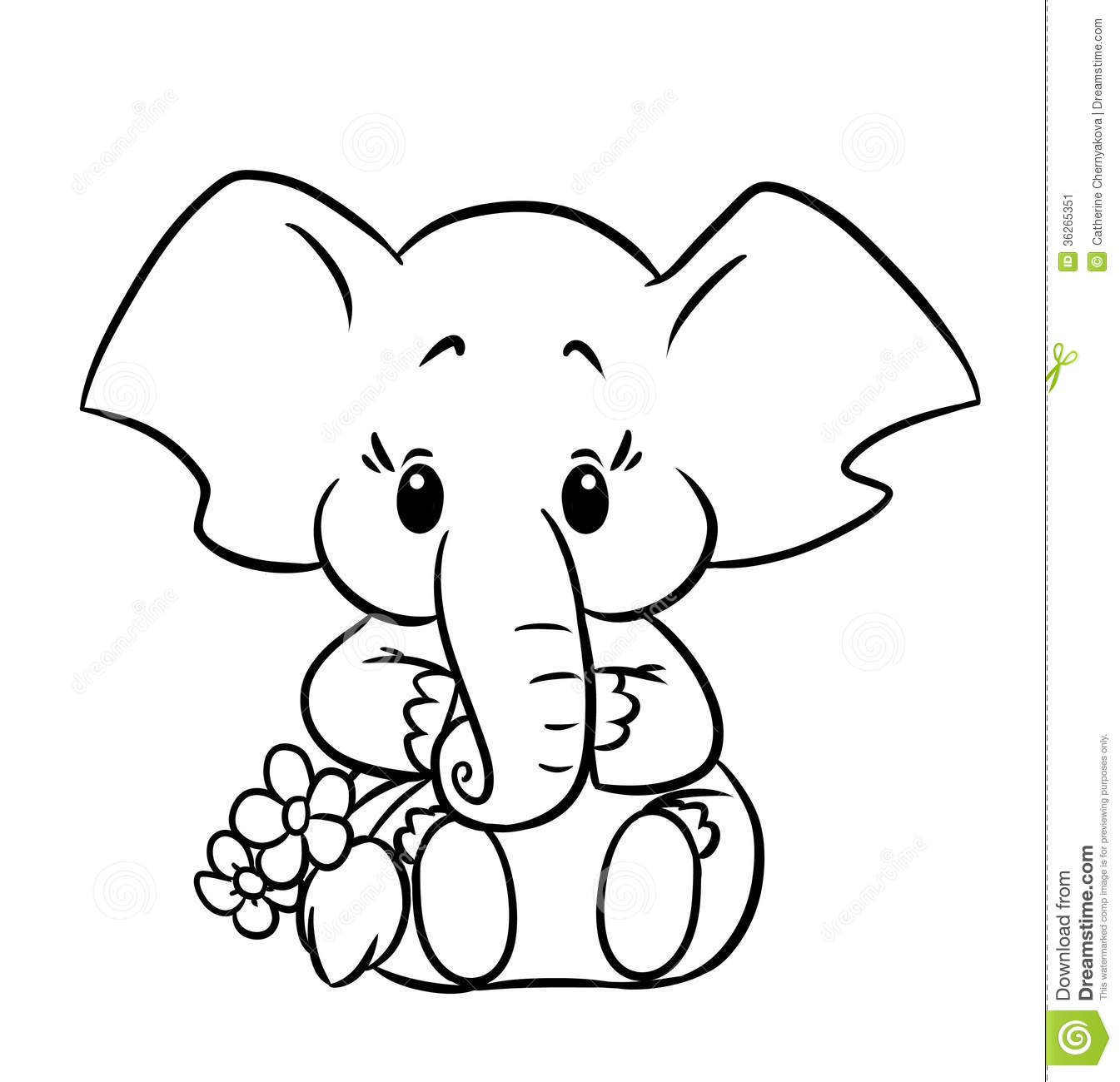 Elephant coloring #8, Download drawings
