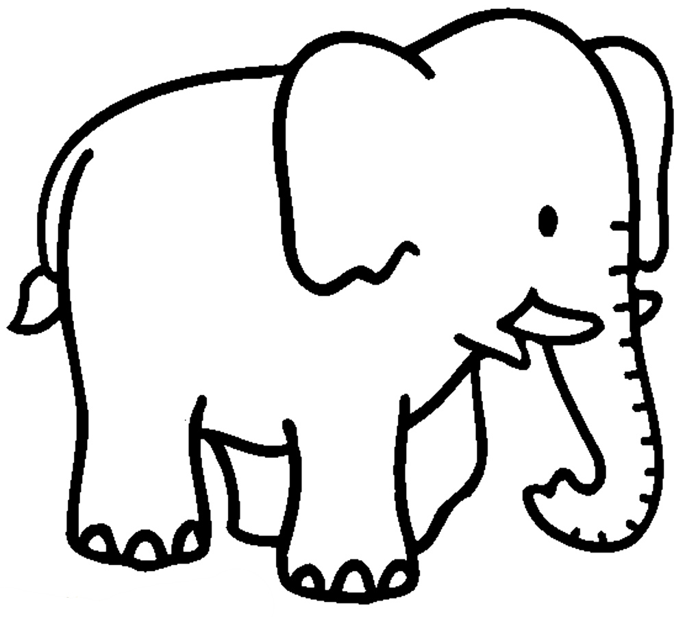 Elephant coloring #16, Download drawings