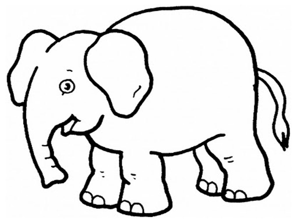 Elephant coloring #19, Download drawings