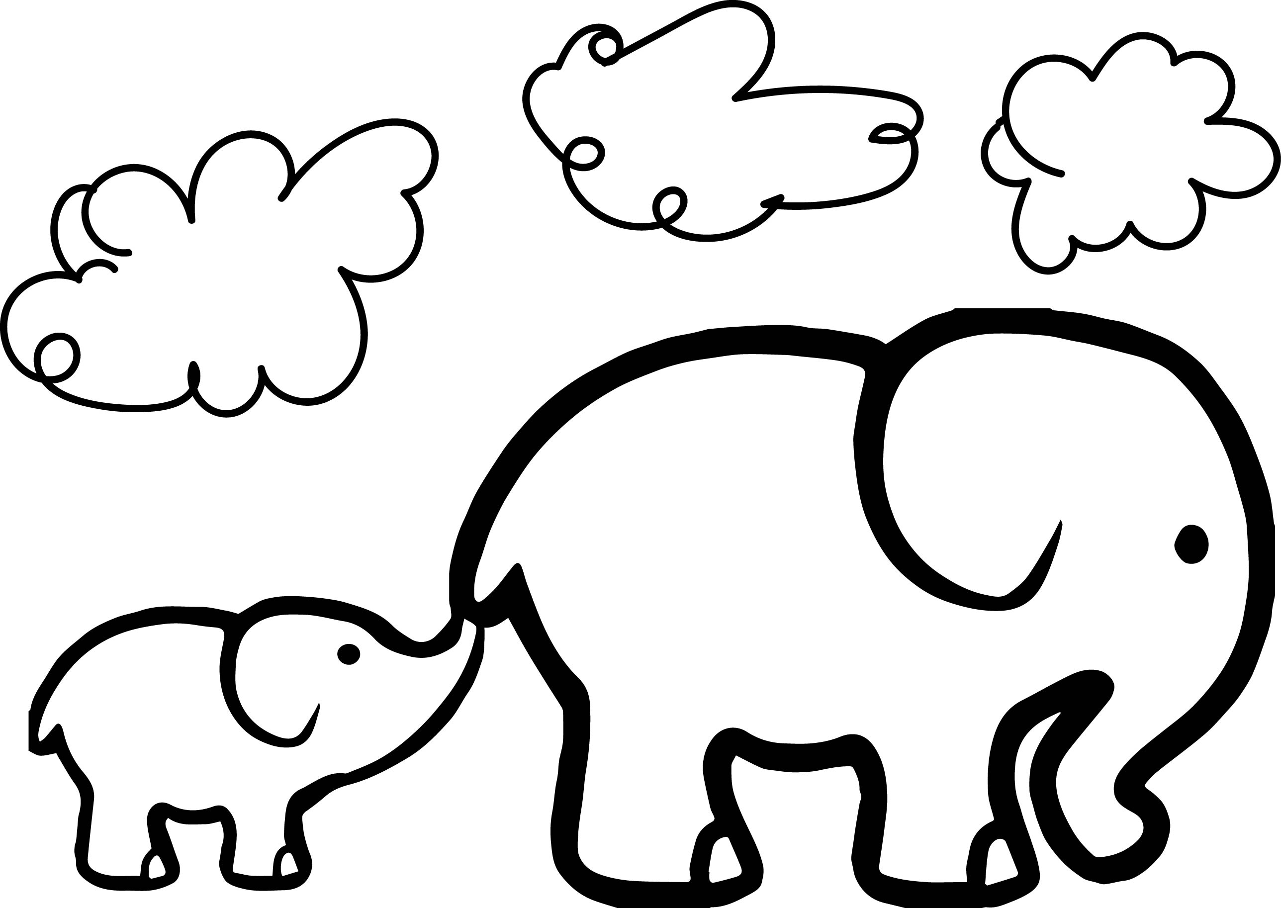 Elephant coloring #3, Download drawings
