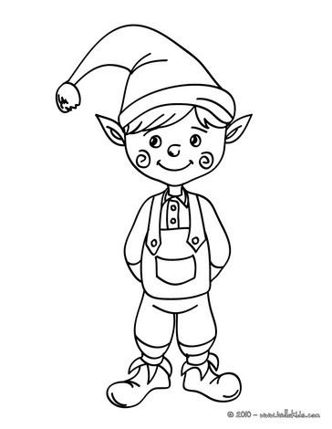 Elf coloring #18, Download drawings