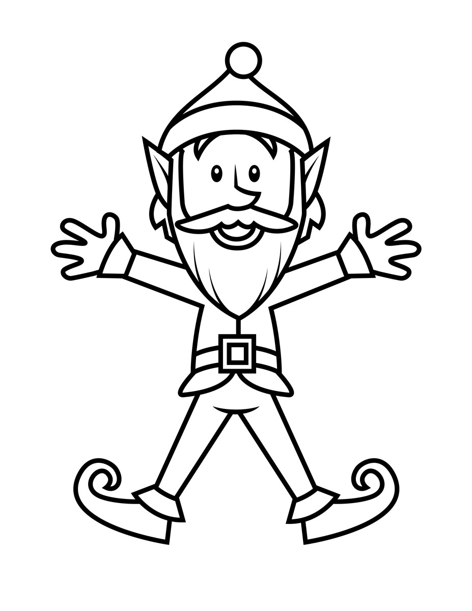 Elf coloring #16, Download drawings