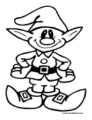 Elf coloring #6, Download drawings