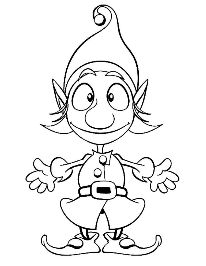 Elf coloring #11, Download drawings