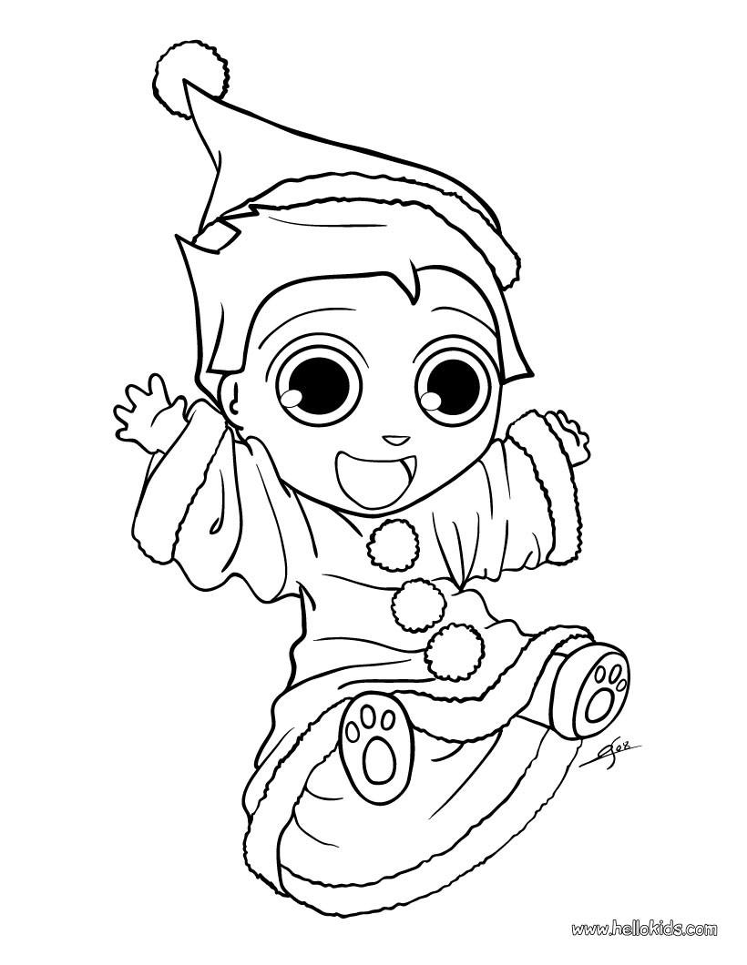 Elf coloring #1, Download drawings