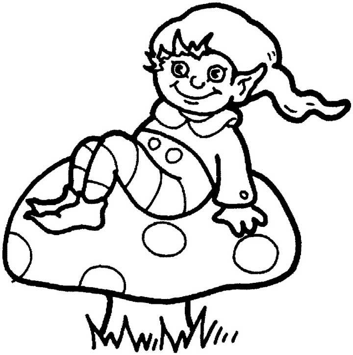 Elf coloring #4, Download drawings