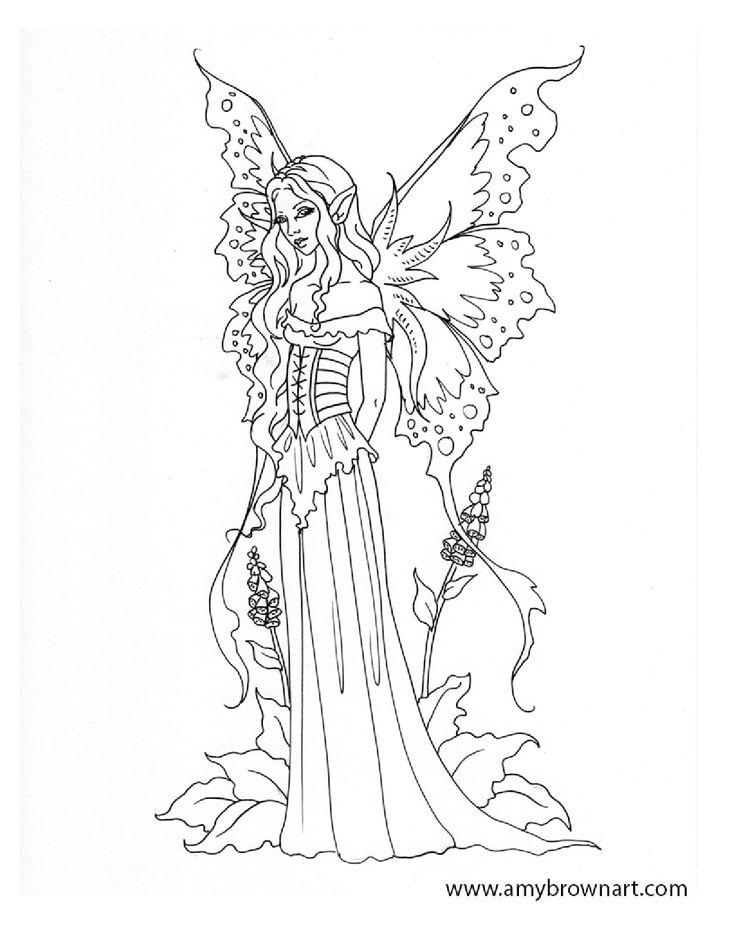 Elf Fairy coloring #19, Download drawings