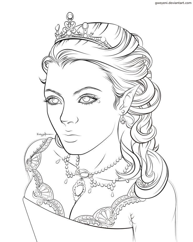 Elven coloring #20, Download drawings