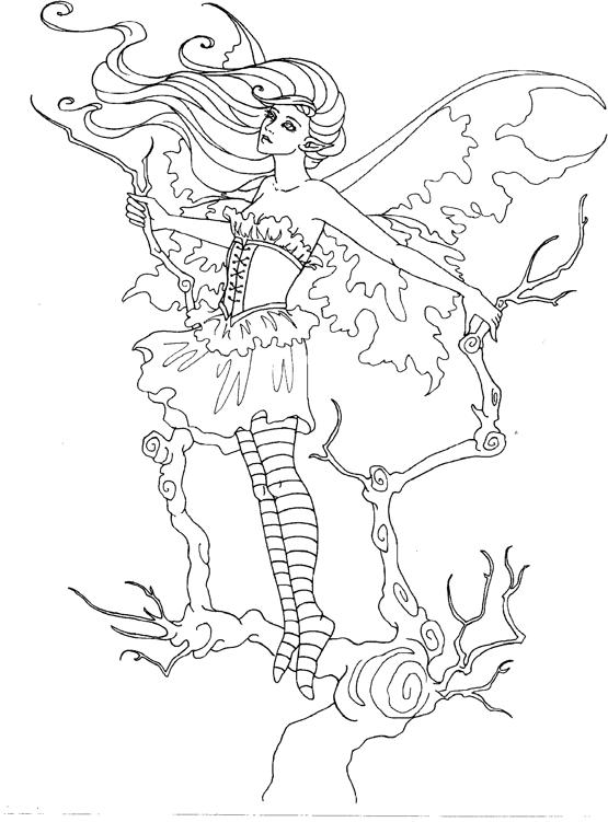 Elf Fairy coloring #6, Download drawings