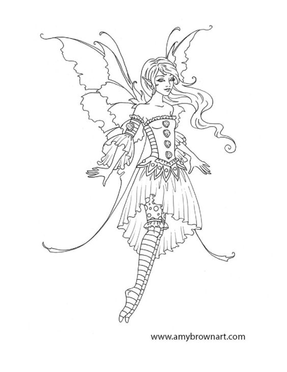 Elf Fairy coloring #7, Download drawings