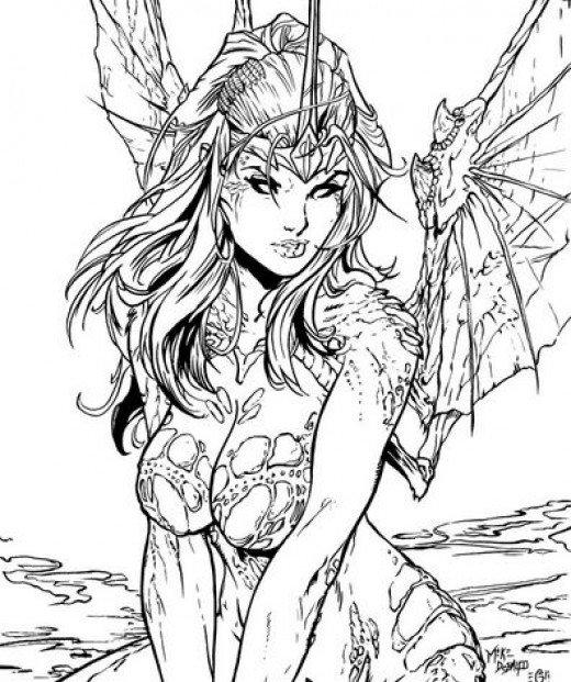 Elf Fairy coloring #15, Download drawings