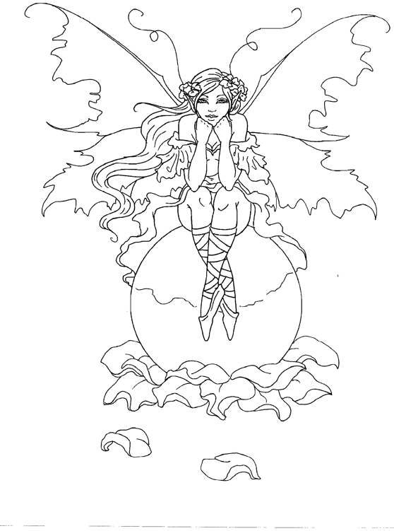 Elf Fairy coloring #5, Download drawings