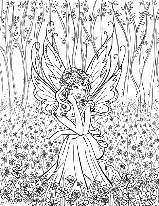 Elf Fairy coloring #1, Download drawings