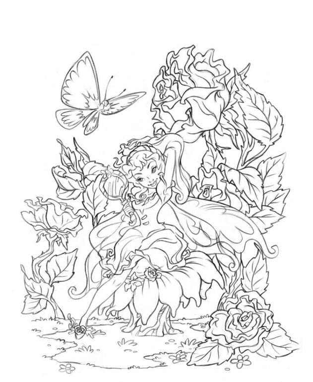 Elf Fairy coloring #16, Download drawings