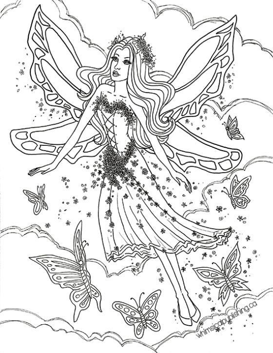 Elf Fairy coloring #14, Download drawings