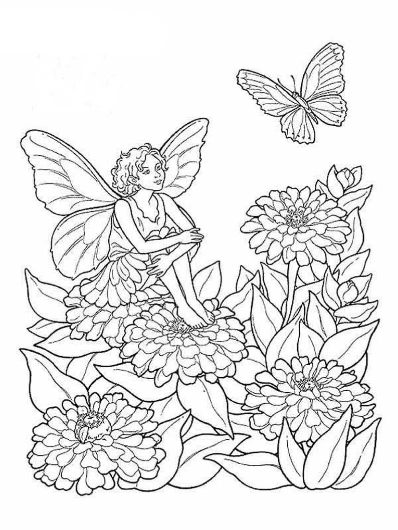 Elf Fairy coloring #3, Download drawings