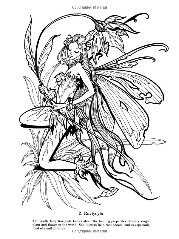 Elf Fairy coloring #4, Download drawings