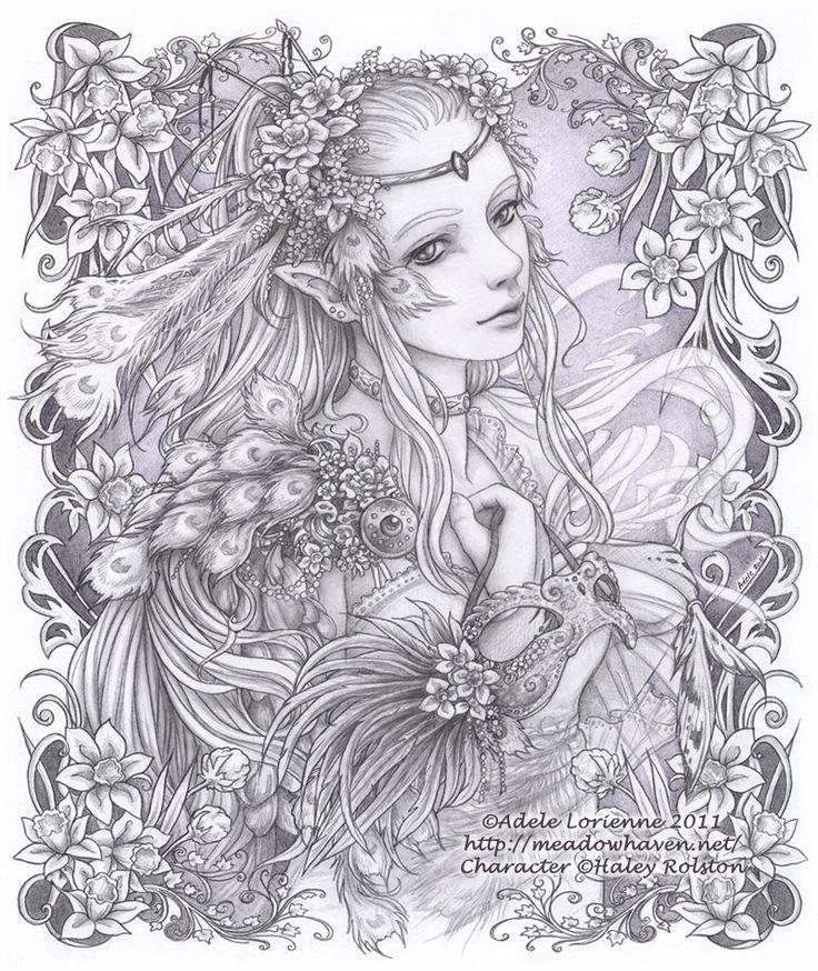 Elf Fairy coloring #12, Download drawings