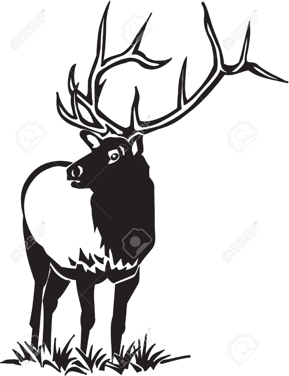 Elk clipart #13, Download drawings