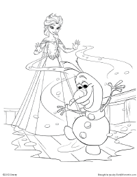 Elsa (Frozen) coloring #8, Download drawings