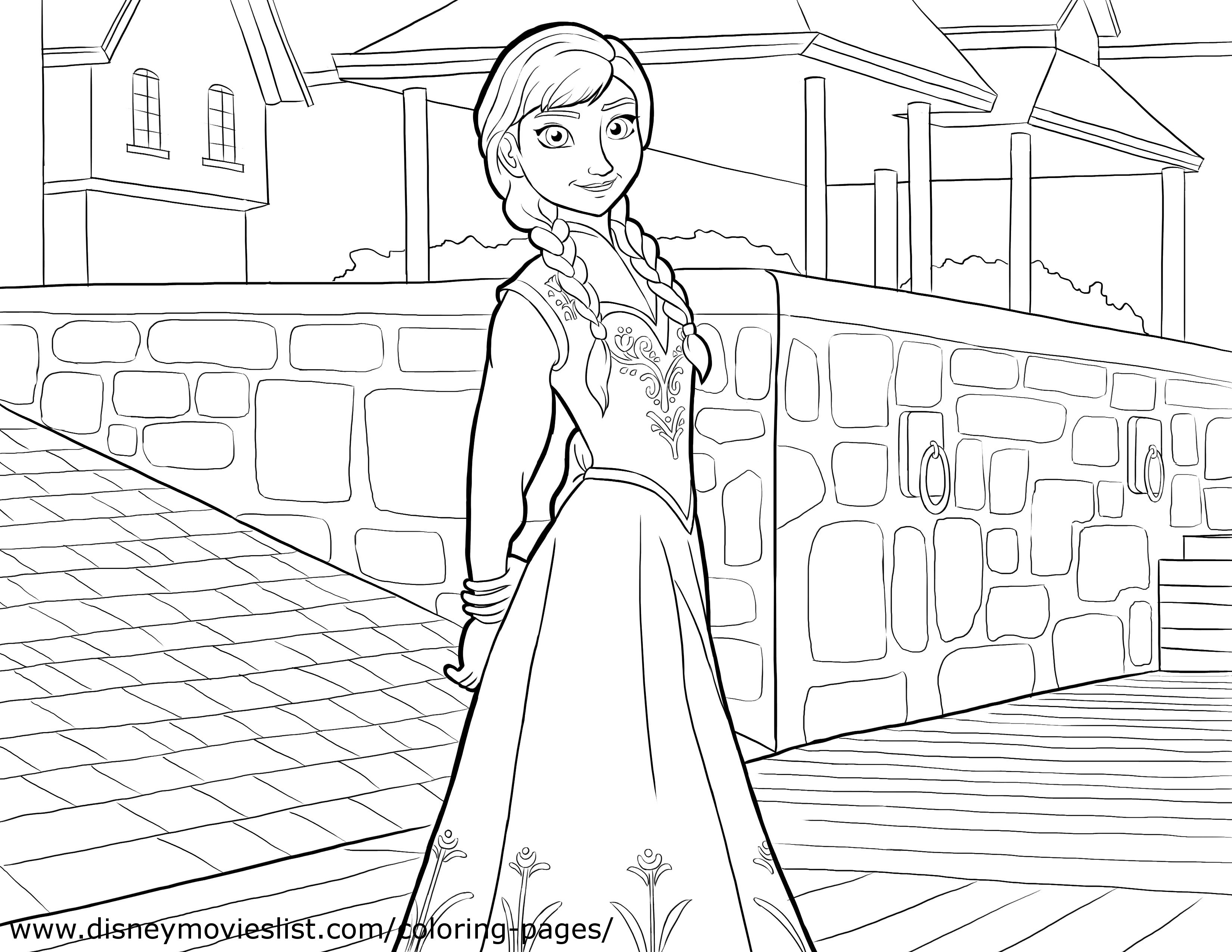 Elsa (Frozen) coloring #7, Download drawings