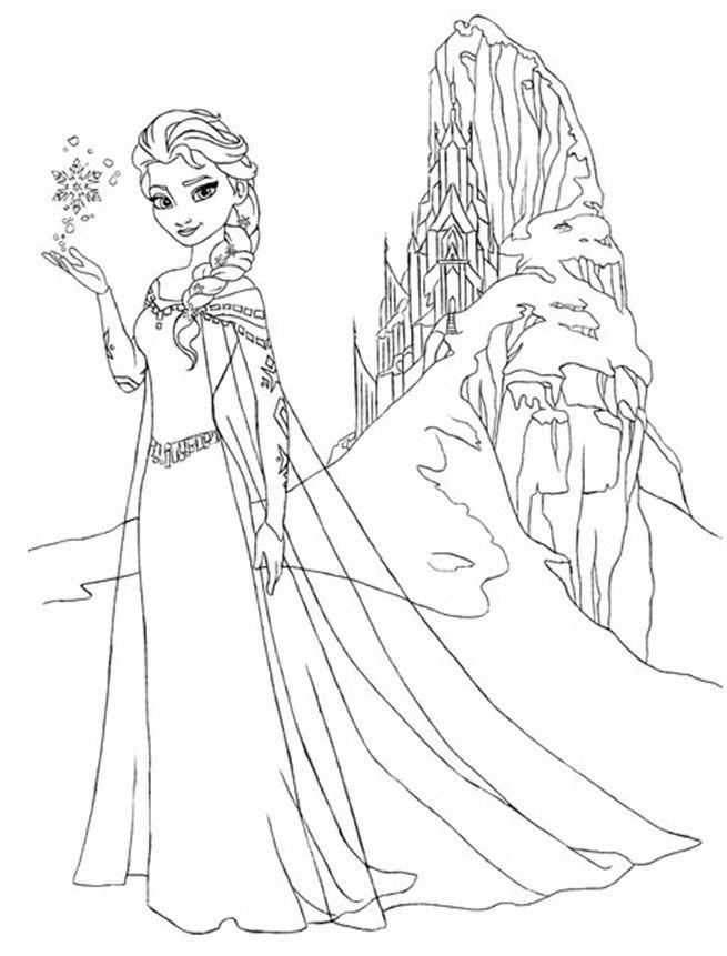 Elsa (Frozen) coloring #5, Download drawings