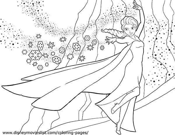 Elsa (Frozen) coloring #6, Download drawings