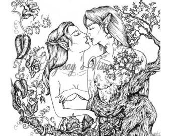 Elven coloring #19, Download drawings