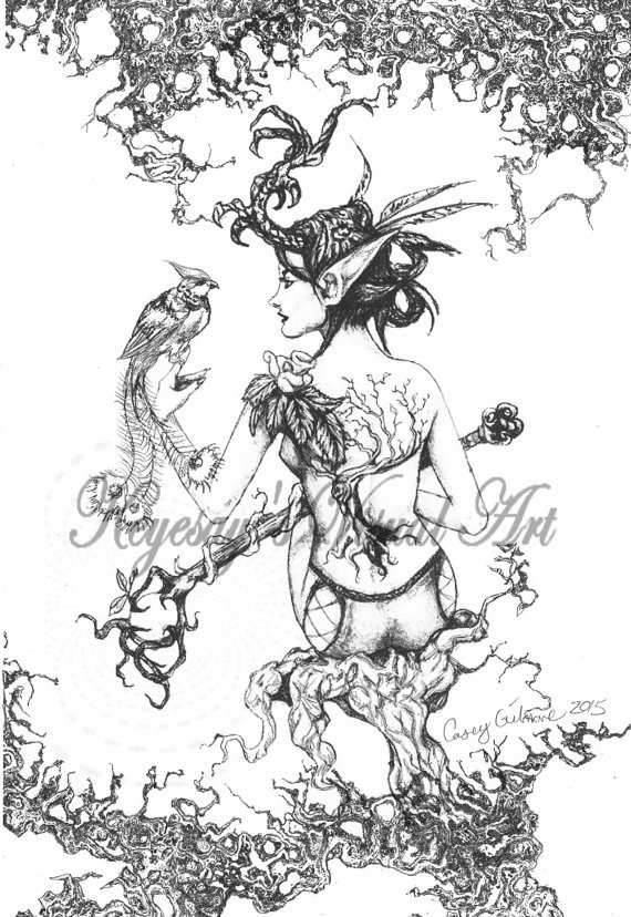 Elven coloring #14, Download drawings
