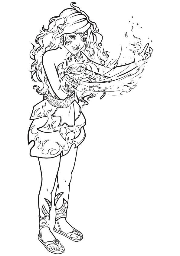Elven coloring #17, Download drawings