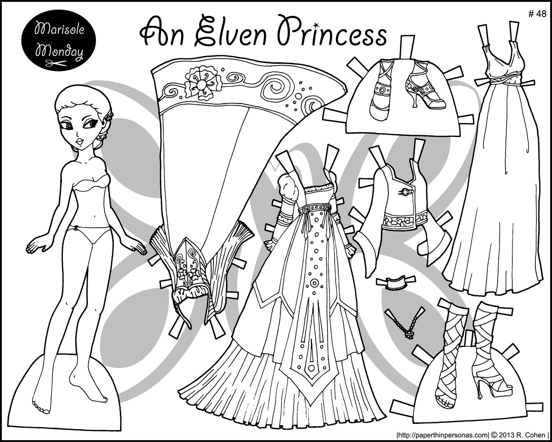 Elvish coloring #12, Download drawings