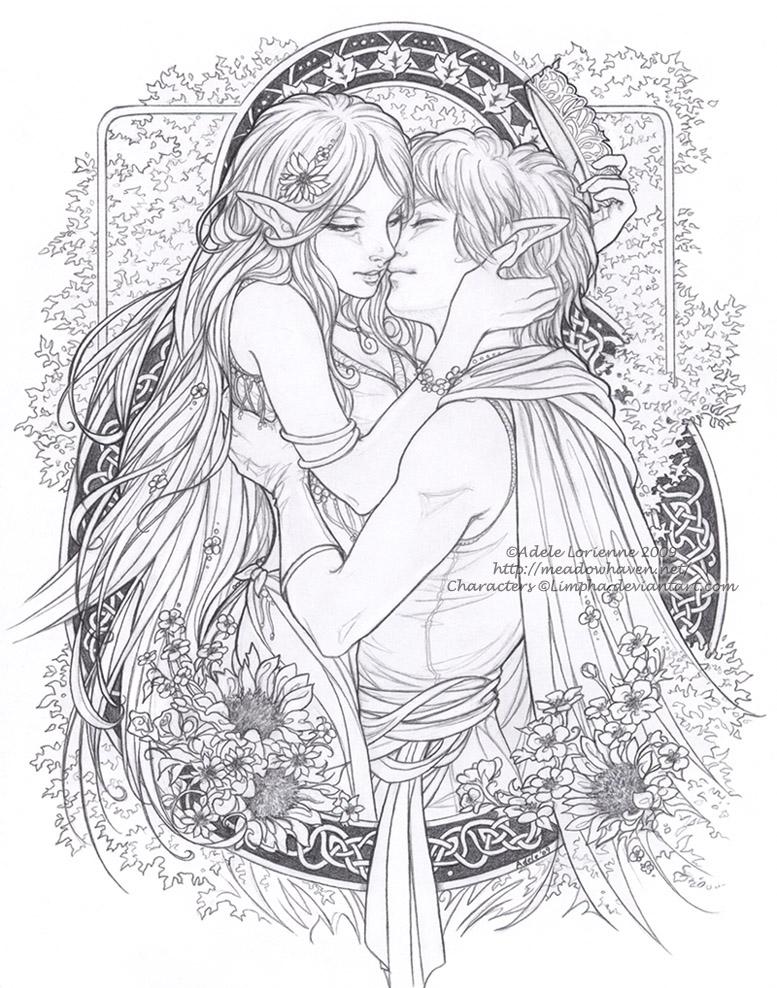 Elvish coloring #4, Download drawings