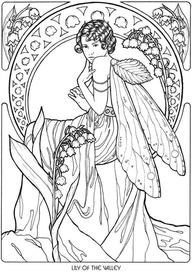 Elvish coloring #10, Download drawings