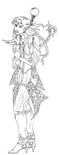 Elvish coloring #2, Download drawings
