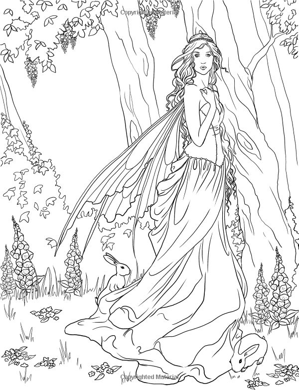 Elvish Forest coloring #7, Download drawings