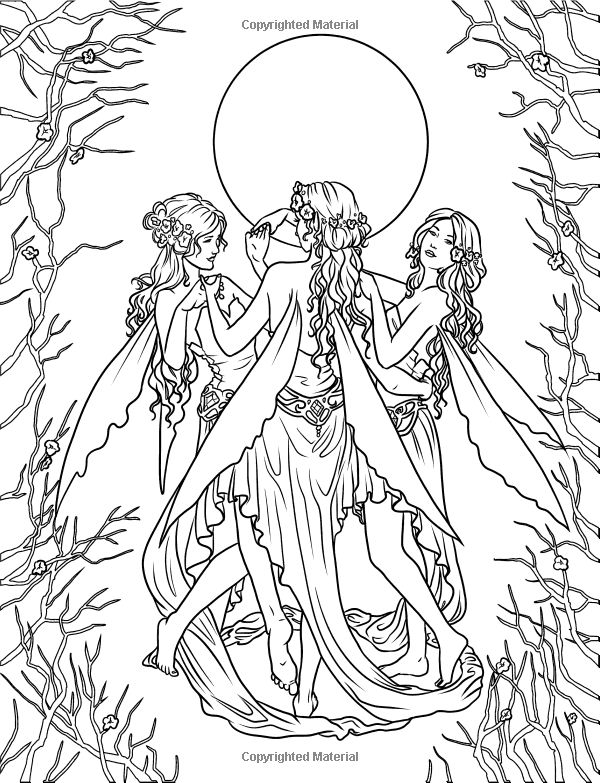 Elvish Forest coloring #16, Download drawings