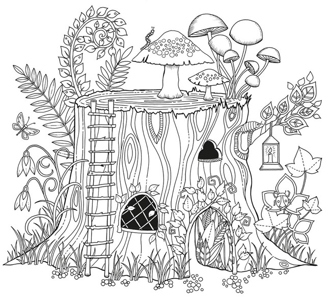 Elvish Forest coloring #6, Download drawings
