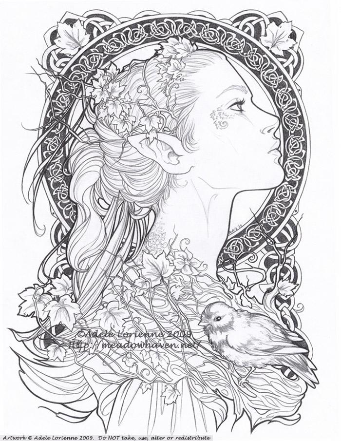 Elvish Love coloring #14, Download drawings