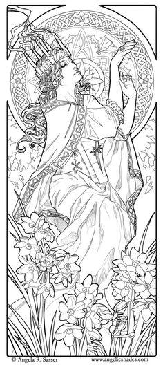 Elvish Love coloring #8, Download drawings