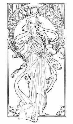 Elvish Love coloring #19, Download drawings