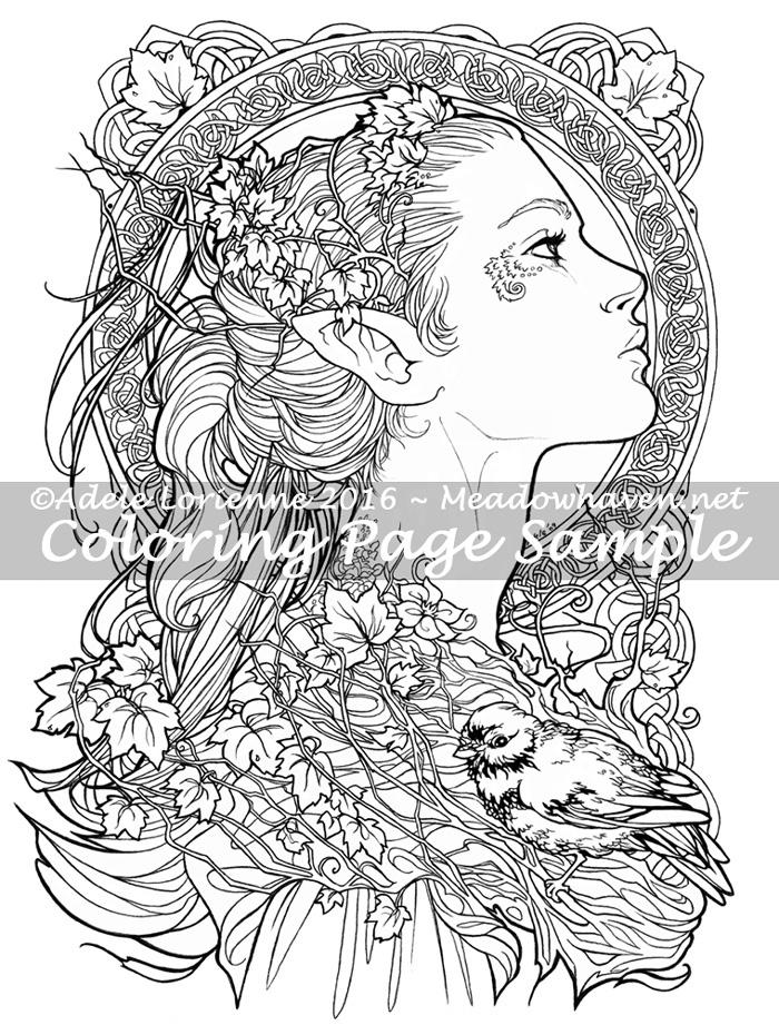 Elvish coloring #20, Download drawings